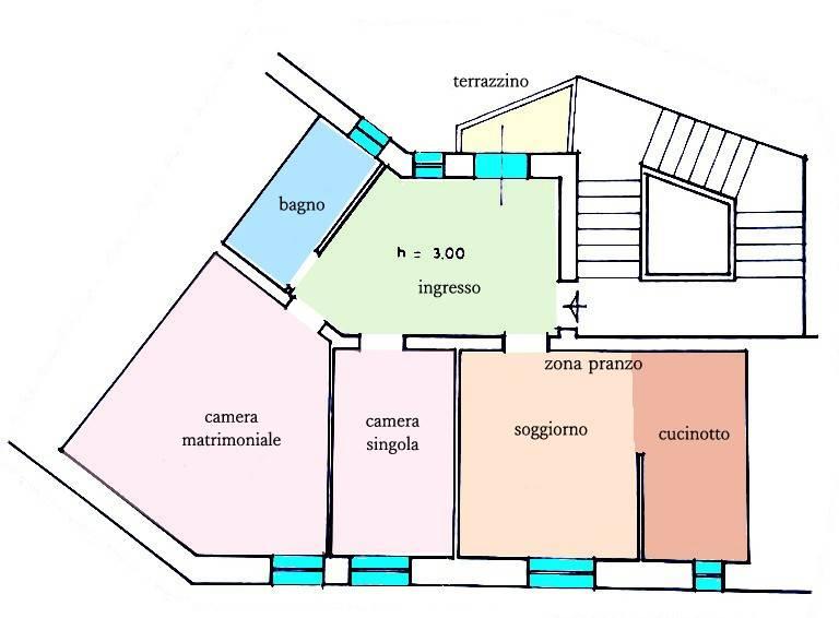 Quadrilocale in Via Verdi Adiacente Via Ximenes, Centro Città, Grosseto