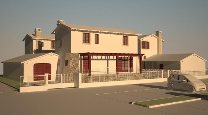 Villa, Minucciano, in nuova costruzione
