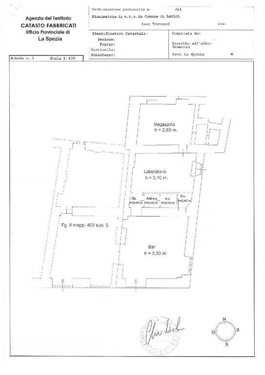 Immobile Commerciale in vendita a Lerici, 3 locali, zona Zona: San Terenzo, prezzo € 250.000 | CambioCasa.it