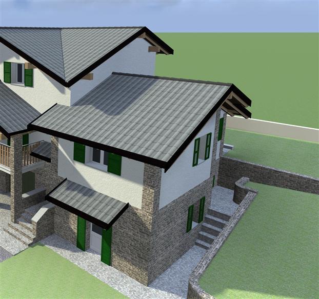 Villa a schiera, Montecreto, in nuova costruzione