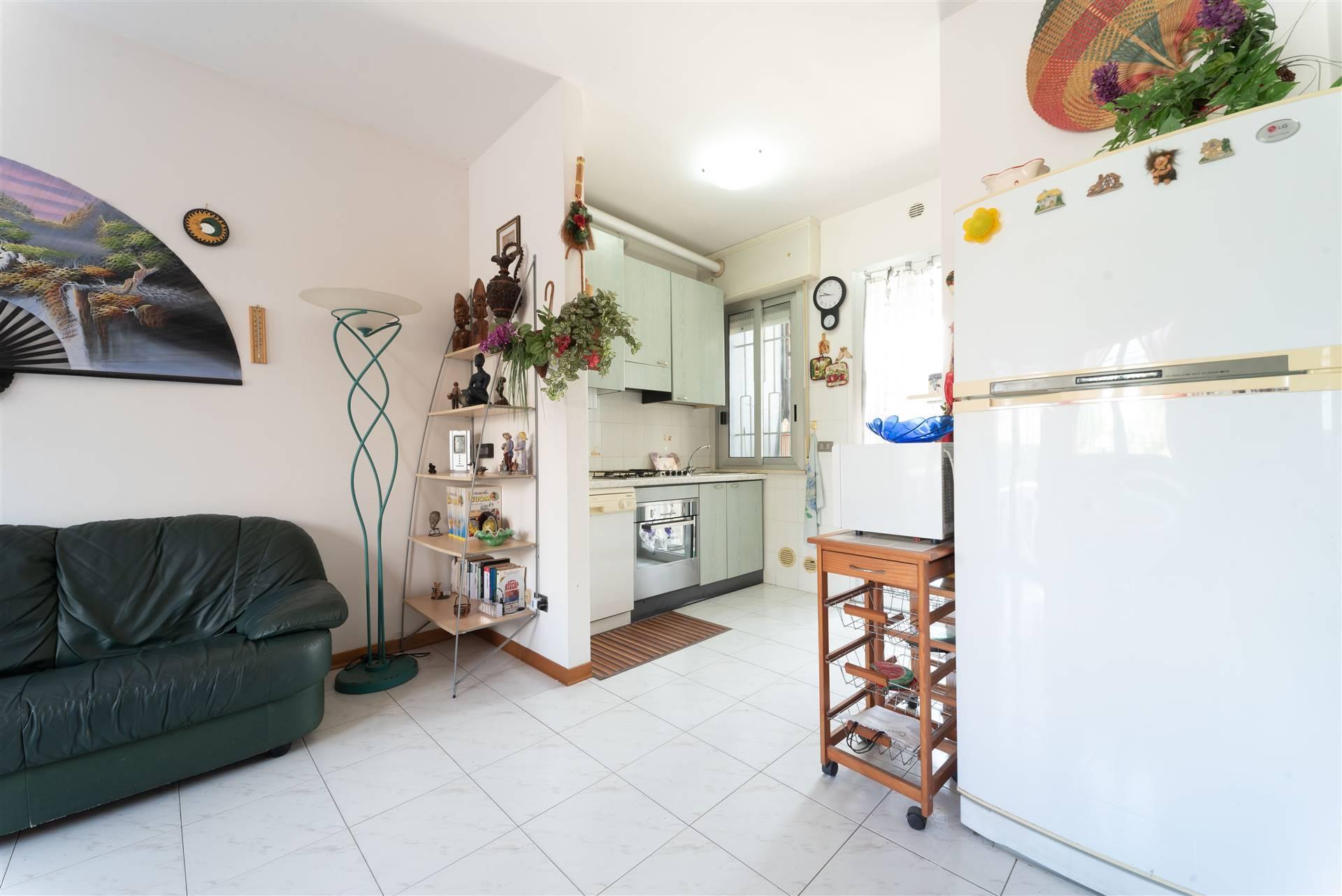 soggiorno e angolo cucina
