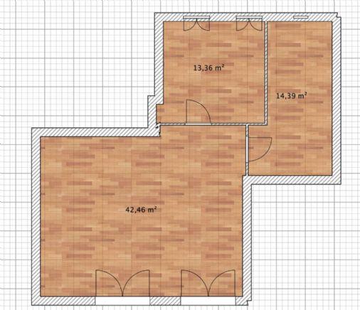 Centralissimo locale primo piano uso ufficio di mq 85 possibilità di Garage