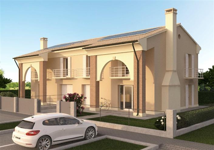 Ville bifamiliari in vendita a noale for Piani di casa in stile ranch con garage a lato