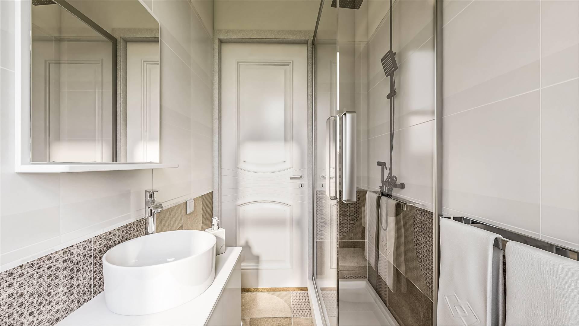 Rendering bagno principale piano primo