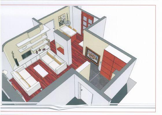 progetto arredo sala - Rif. 0154