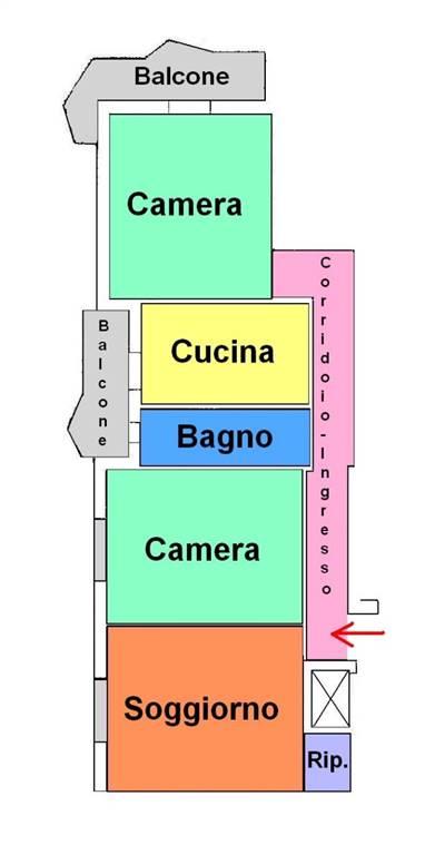 Appartamento in affitto a Taranto, 3 locali, zona Zona: Trecarrare/Battisti, prezzo € 500 | Cambio Casa.it