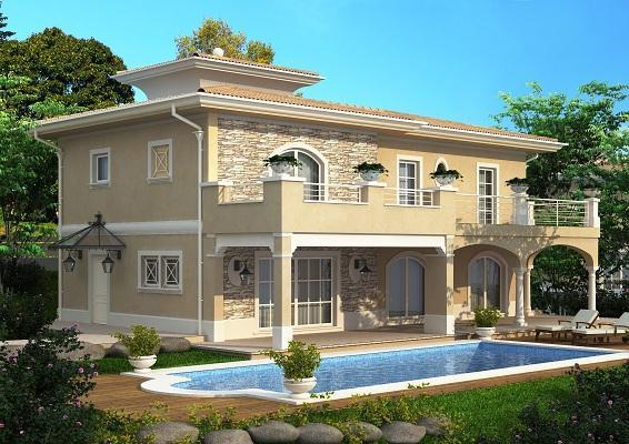 Vendita villa padenghe sul garda in nuova costruzione for Disegni di ville