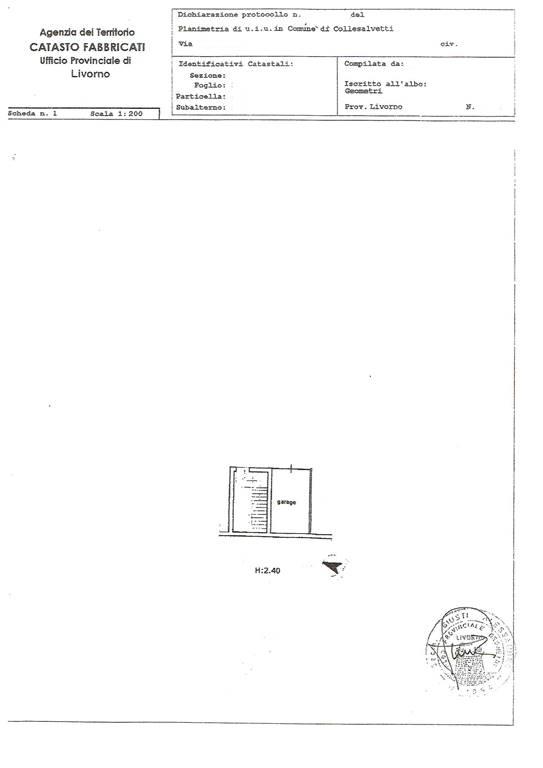 Box / Garage in vendita a Collesalvetti, 1 locali, prezzo € 18.000 | Cambio Casa.it