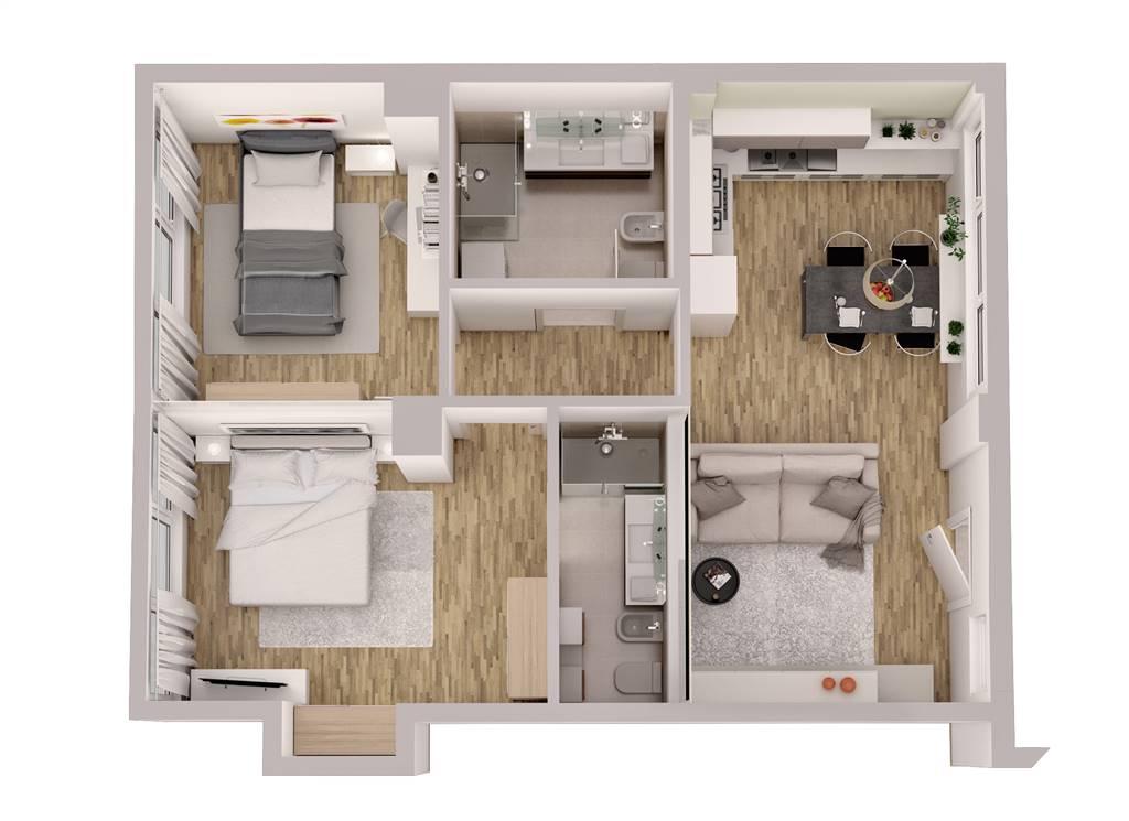 Appartamento via Santa Rita da Cascia  10  a Milano
