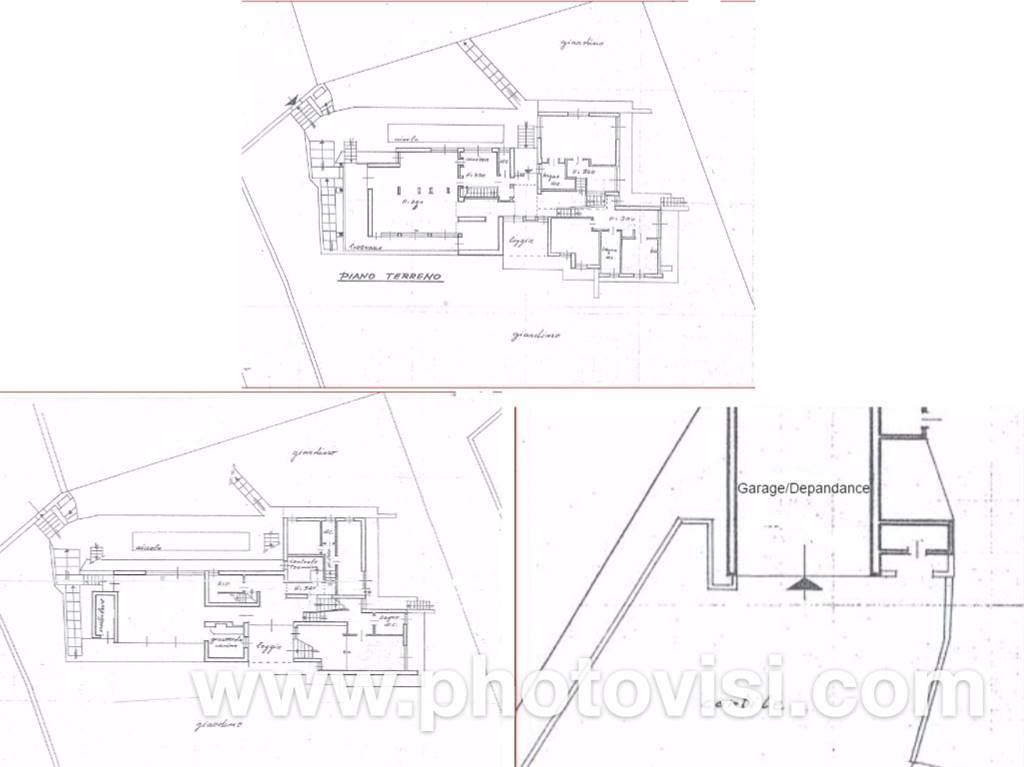 Planimetria 2 piani più Garage / Depandance