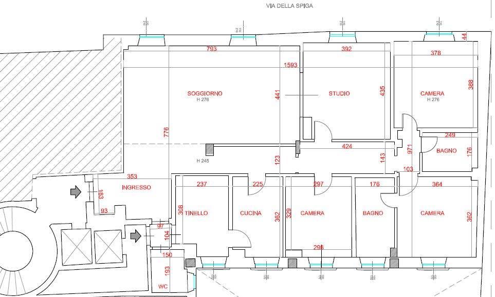 Appartamento in affitto a milano via spiga 2 trovocasa for Doppi bagni padronali
