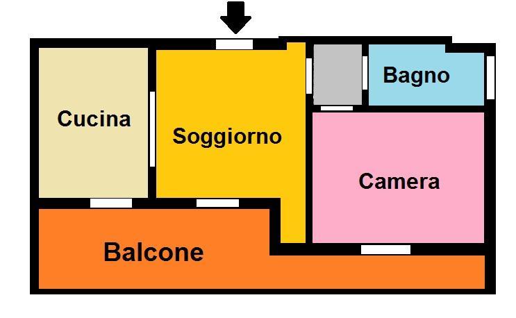 Appartamento in affitto a Civitella San Paolo, 2 locali, prezzo € 390 | Cambio Casa.it