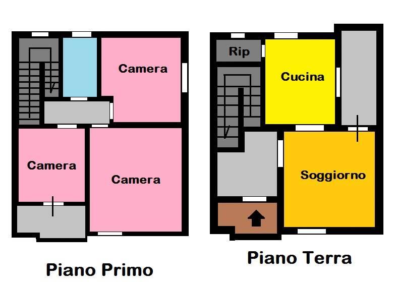 Soluzione Semindipendente in vendita a Nazzano, 4 locali, prezzo € 130.000 | Cambio Casa.it