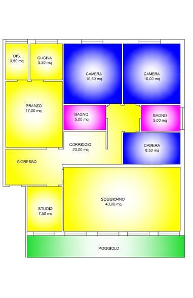 Appartamento in affitto a Padova, 6 locali, zona Zona: 5 . Sud-Ovest (Armistizio-Savonarola), prezzo € 600 | Cambio Casa.it