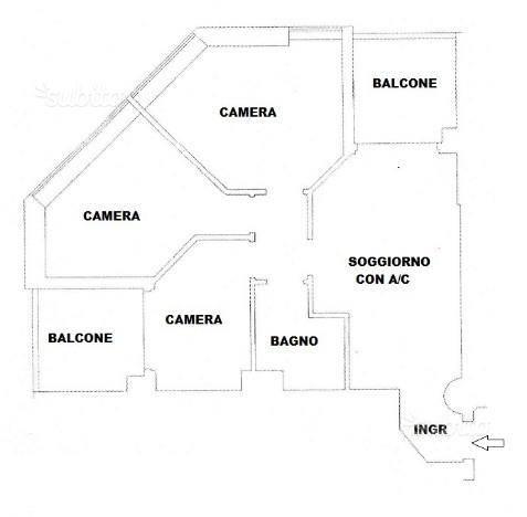 Appartamento in affitto a Latina, 3 locali, zona Località: LATINAFIORI, prezzo € 750 | CambioCasa.it