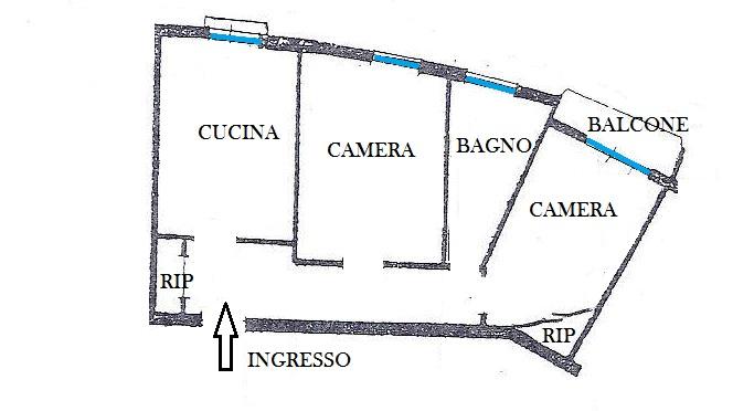 Trilocale in Via Panigale, Borgo Panigale, Bologna