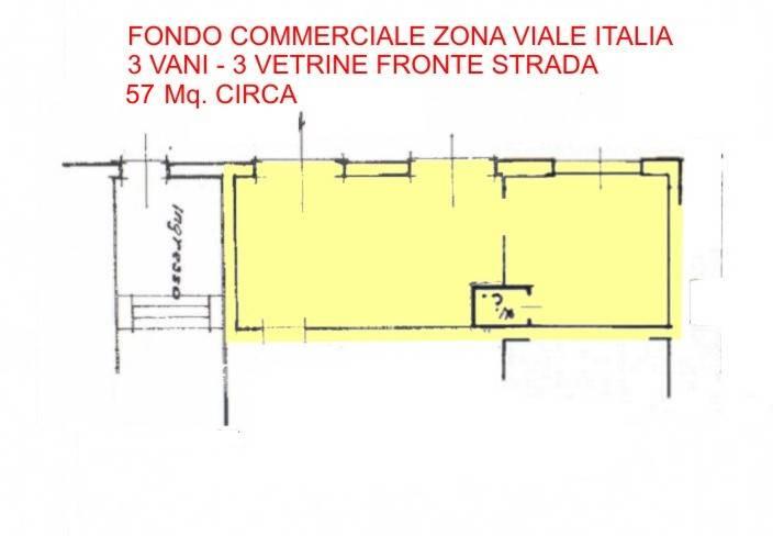 Negozio-locale in Affitto a Livorno: 3 locali, 57 mq