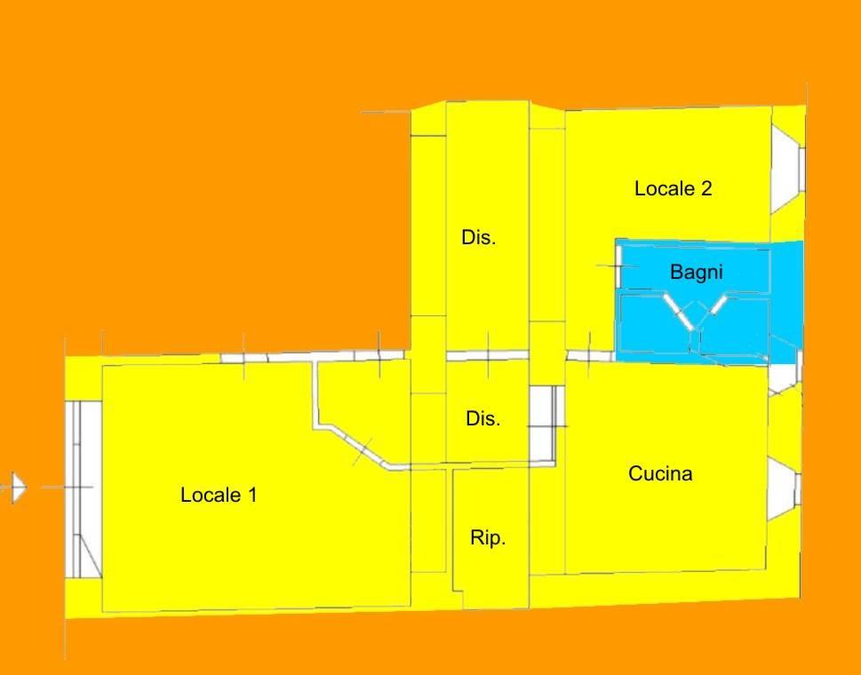 Negozio-locale in Affitto a Livorno: 2 locali, 65 mq