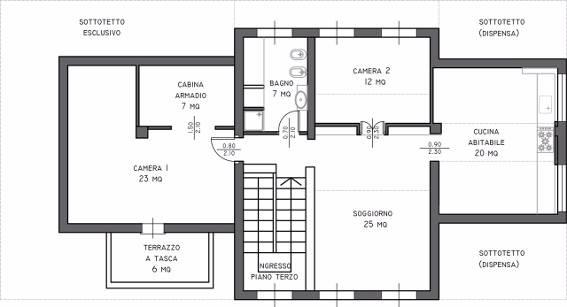 Attico / Mansarda in vendita a Pavia, 6 locali, zona Zona: Pompieri - S. Giovannino, prezzo € 250.000 | CambioCasa.it