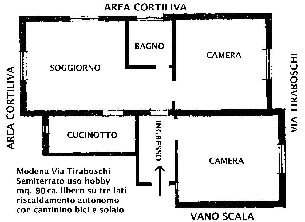 Magazzino, Buon Pastore, Modena, abitabile