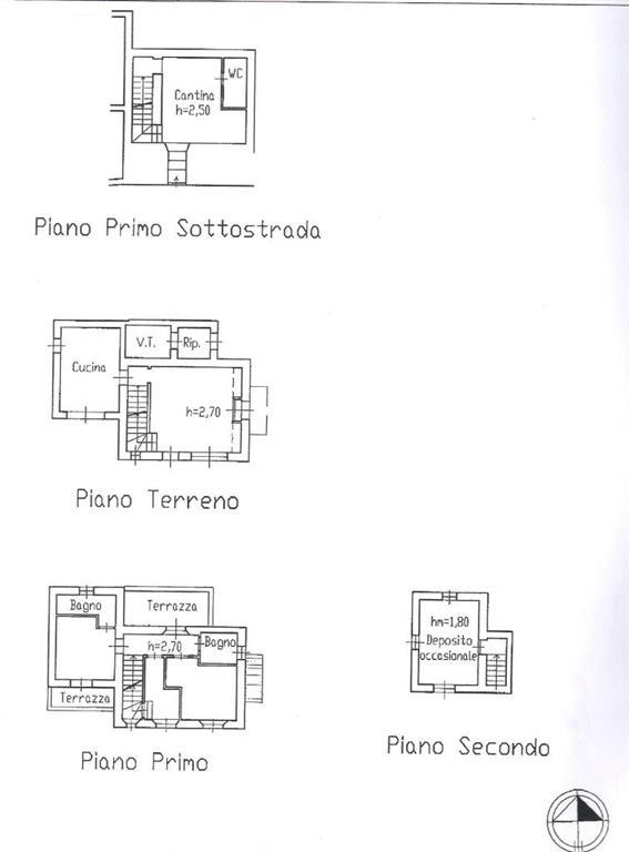Vendita rustico casale vetulonia castiglione della for Planimetrie della cantina