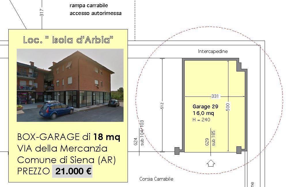 Box / Garage in vendita a Siena, 1 locali, zona Località: ISOLA ARBIA, prezzo € 19.000 | Cambio Casa.it