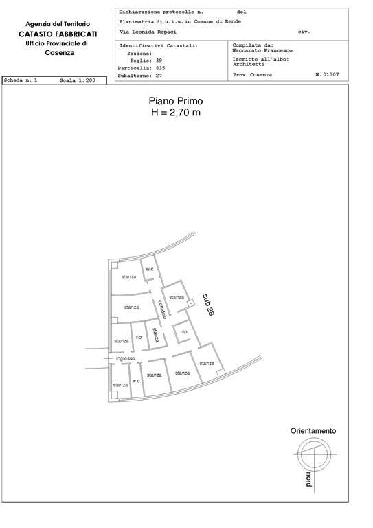 Ufficio / Studio in affitto a Rende, 10 locali, zona Località: COMMENDA, prezzo € 1.200 | Cambio Casa.it
