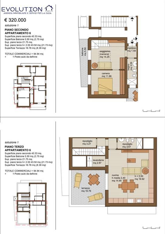 Attico / Mansarda in vendita a Riccione, 4 locali, prezzo € 320.000 | Cambio Casa.it