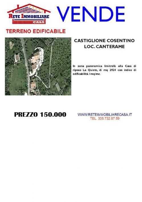 Terreno in Vendita a Castiglione Cosentino