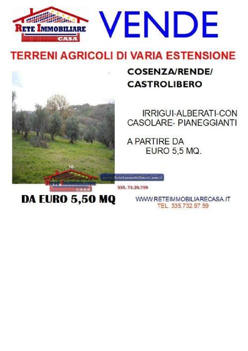 Terreno Agricolo in vendita a Cosenza, 9999 locali, Trattative riservate   CambioCasa.it