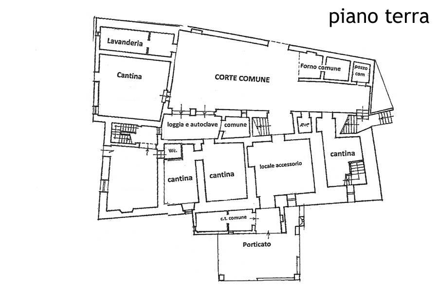 Planimetria piano terreno