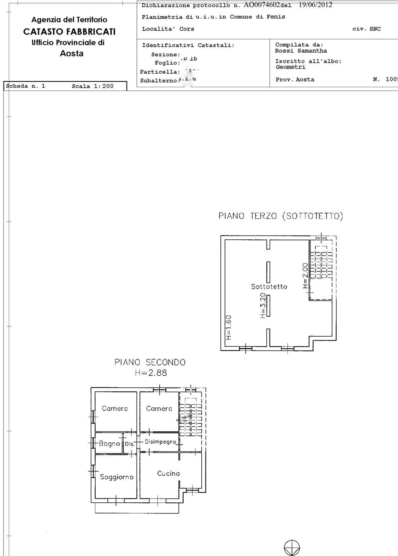 appartamento piano secondo e terzo