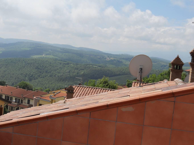 Vista dal terrazzo sul tetto