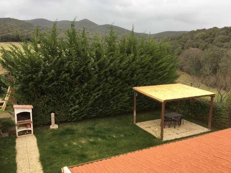 Foto dal piano primo sul giardino