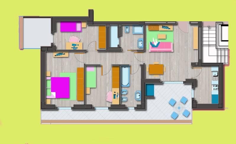 Appartamento in vendita a Latina, 5 locali, zona Località: GIONCHETTO, prezzo € 220.000 | CambioCasa.it