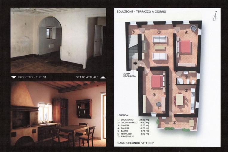Appartamento in vendita a Lajatico, 4 locali, zona atico, prezzo € 125.000   PortaleAgenzieImmobiliari.it