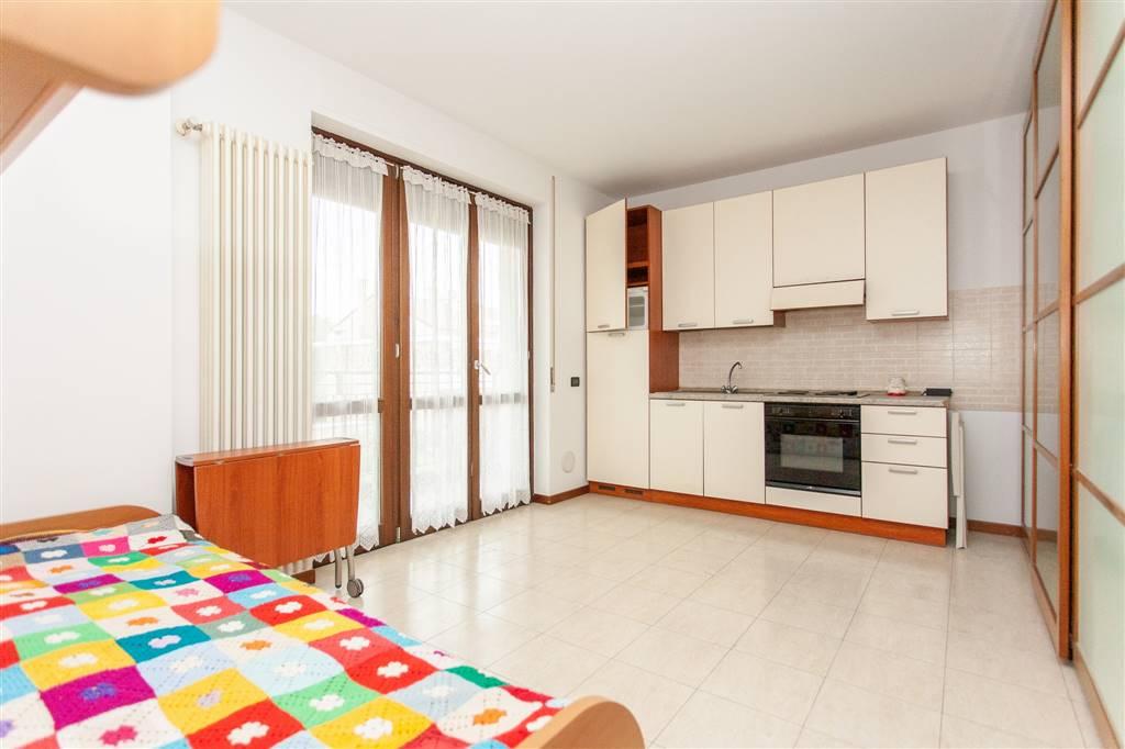 In una palazzina del 2009 proponiamo monolocale di 38 mq. al secondo piano con ascensore, composto da: ingresso, soggiorno/camera, cucina a vista, bagno, balcone e cantina al piano seminterrato.
