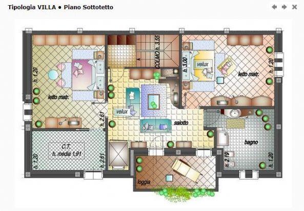 Villa bifamiliare in vendita a modena zona prossimit for Ulteriori planimetrie