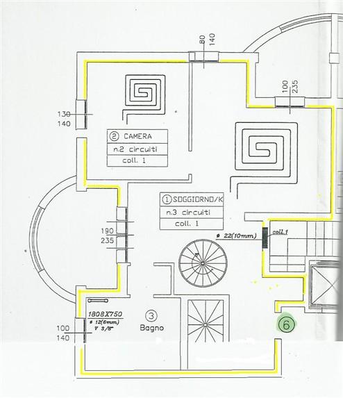 planimetria 1° p. - Rif. casina77f