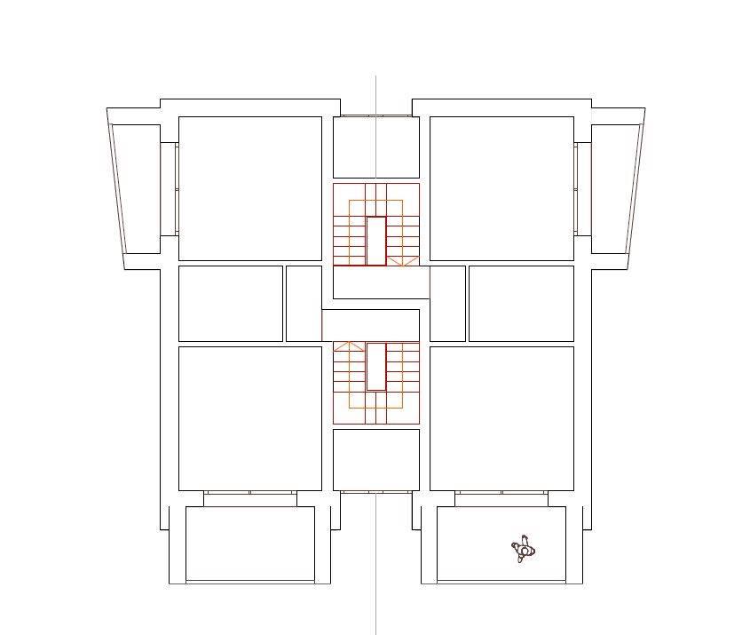 pianta secondo piano - Rif. sance17