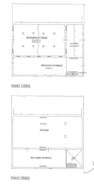 planimetria deposito acetaia