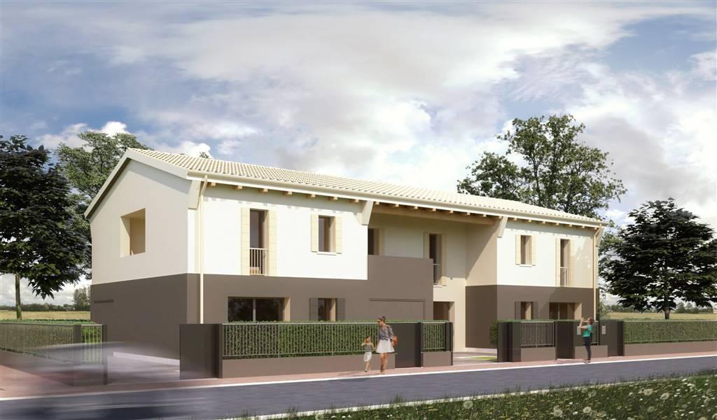 Porzione CENTRALE di trivilla in fase di realizzazione dagli ottimi spazi abitativi. Si compone di ingresso su soggiorno con angolo cottura di 33 mq,
