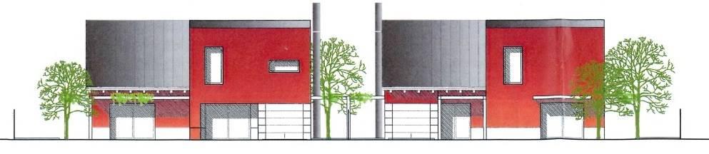 Vendesi lotto di terreno edificabile con bozza di progetto per 2 ville bifamiliari per complessivi 1800mc. Intervento diretto su area urbanizzata.