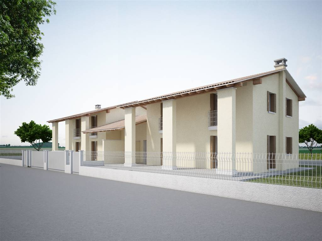 ROBEGANO, SALZANO, Duplex villa for sale of 175 Sq. mt., New construction, Energetic class: Not subject, placed at Ground on 2, composed by: 5 Rooms,