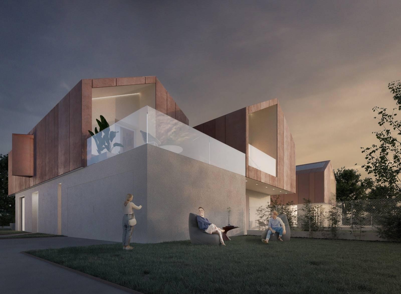 CASELLE, SANTA MARIA DI SALA, Doppelhaus zu verkaufen von 115 Qm, Neubau, Heizung Bodenheizung, Energie-klasse: A4, am boden Land auf 1,