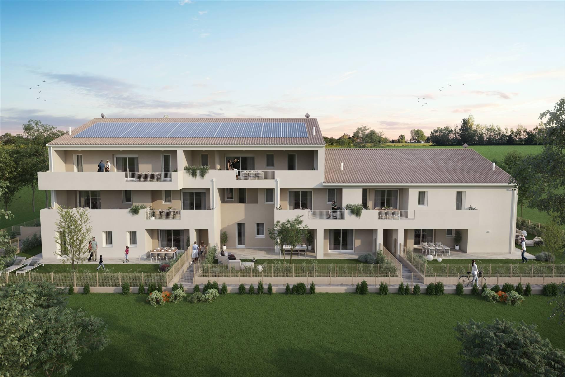 In pieno centro a SALZANO, proponiamo palazzina di sole 10 unità abitative in fase di realizzazione, APPARTAMENTI con 2 o 3 camere e tutti con doppi