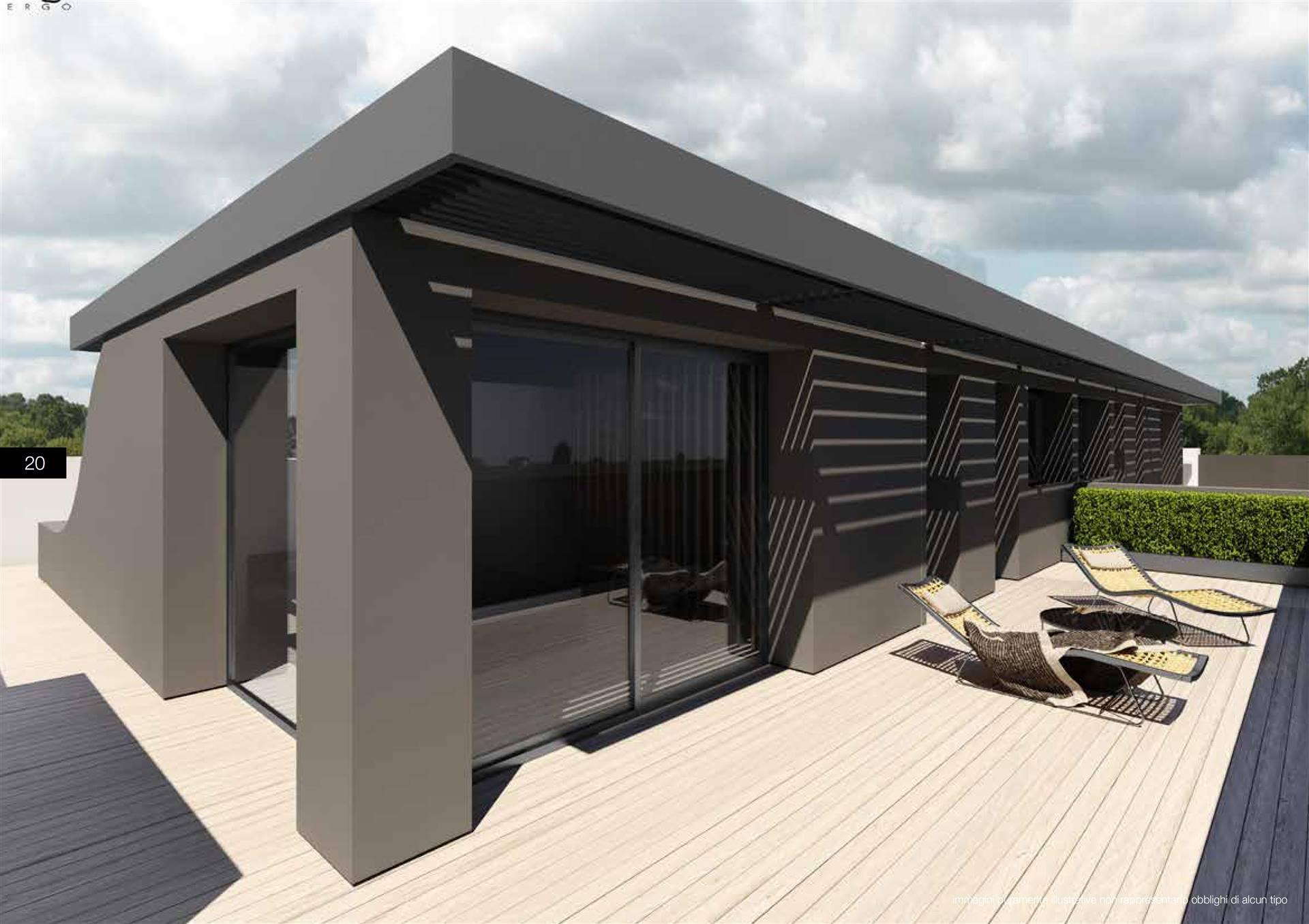 OLMO CENTRO: proponiamo attico su due livelli di nuova costruzione su un contesto tranquillo, di solo 6 unità abitative in una zona residenziale nel