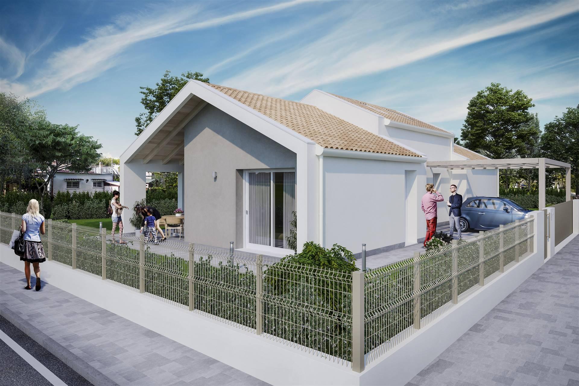 Nel quartiere di GAZZERA, a pochissi passi dal centro di Mestre, villino di prossima costruzione tutto su piano unico, composto da soggiorno con
