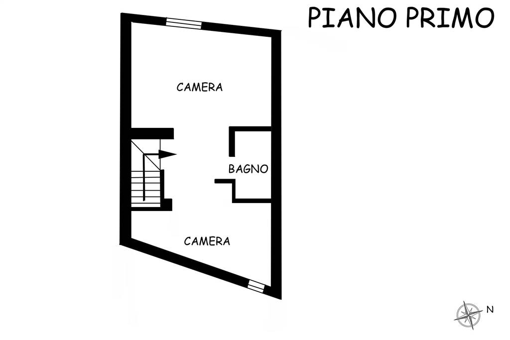 Piantina piano primo