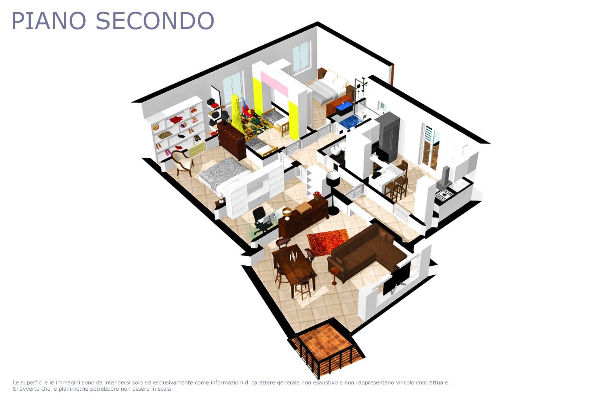 Planimetria appartamento 3D
